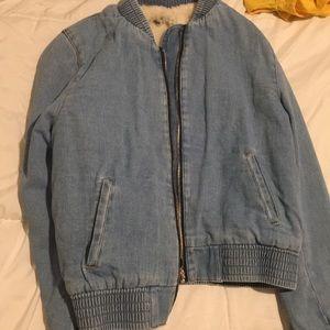 Cozy jean jacket